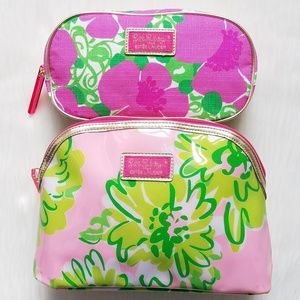 Two Lilly Pulitzer For Estee Lauder Cosmetic Bags